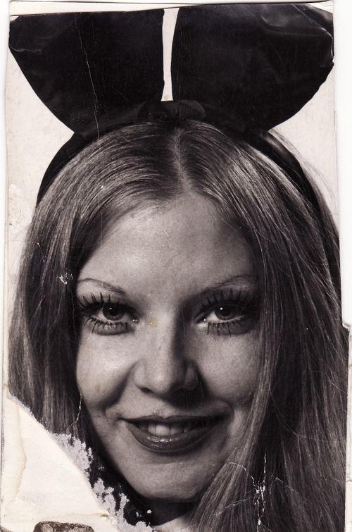 Playboy Bunny, moi! (Where did I get those eyelashes?)